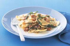 Ricotta agnolotti with sage & walnut burnt butter