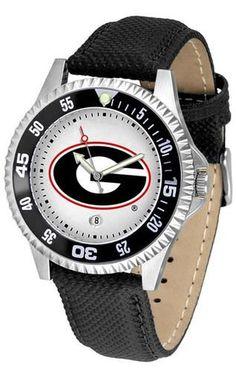 Georgia Bulldogs UGA Men's Leather Sports Watch
