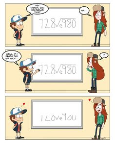 Romancimatics by geegeeman77.deviantart.com on @deviantART........Poor Dipper. I bet that now, after he confessed, he drops her love notes like this all the time X3