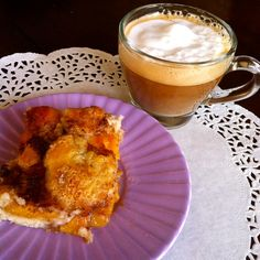 Enjoy #NationalPeachCobblerDay w/ the best #cappuccino #coffee #singleserve #pods #espresso @PODheadCoffee
