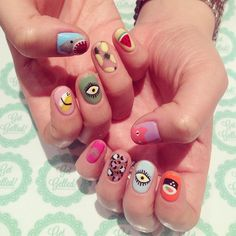Toronto's boutique nail salon specialized in gel nail art! Find us at www.getgelled.com www.instagram.com/getgelled You name anything you like we will draw it on you nails! Sushi mail, watermelon nail, shark nail, pineapple nail, evil eye nail and leopard nail design @getgelled