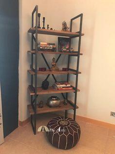 Bookshelf decor  #industrial #interiors #home #display #theatticdubai