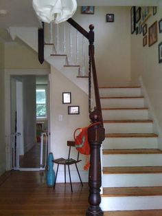 historical home staircase in hallway - Google Search