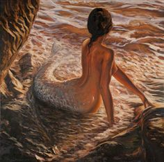 """Saatchi Art Artist: Marco Busoni; Oil 2013 Painting """"The daughter of the sea - SOLD """" This."""