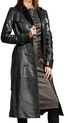 #Aurora #Womens #Leather #TrenchCoat  all hand crafted using only high quality genuine Lamb Nappa Leather.   #maritimeleather Sew button Enclosure Shoulder epaulets Button flap pockets Long sleeves Individual belt Satin Lining All Leather, Leather Jackets and all Products made in our own factories. We accept orders from all over the world and our shipments absolutely FREE,  at : www.maritimeleather.com