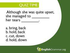 English Grammar - Quiz time!