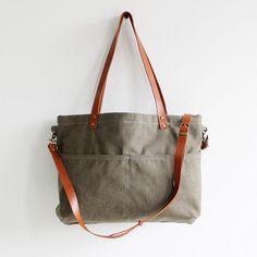 Handmade Canvas Tote Messenger Bag Shopper Bag School Bag Handbag 14022 -  LISABAG - 1 Canvas cb2fdfeafe901