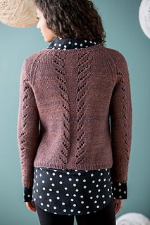 Ravelry: Lupinus Cardigan by Beatrice Perron Dahlen back - pattern in KnitPurl Winter 2014