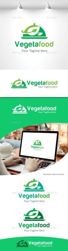 Vegetarian Food Logo — Vector EPS #koki #smart