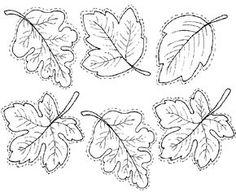 hojas de otoño. Dibujos