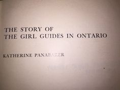 From early company records, tattered Guide magazines, minutes of meetings, and the recollections of some of the pioneer members, this history from 1910 - of the first fifty-five years of Guiding in Ontario is written. Girl Guides, Local History, Text Messages, Nonfiction, Ontario, Magazines, Texts, Writing