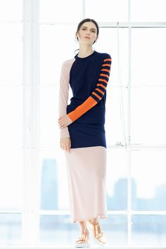 Take inspiration from the Cédric Charlier Resort 2015 show, use orange as an accent colour in your outfit. www.stylestaples.com.au