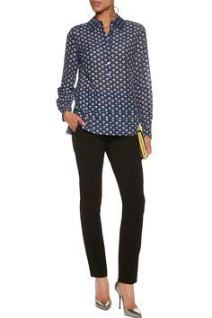 f8c0d4ccffa03 Shop on-sale Diane von Furstenberg Ambra printed cotton and silk-blend  shirt .