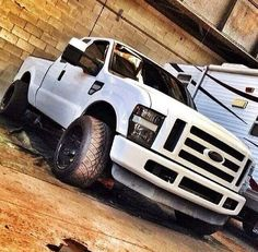White Powerstroke - Diesel Truck Gallery
