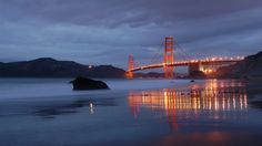 Golden Gate by night