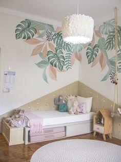 Wall Painting Decor, Room Wall Decor, Bedroom Decor, Girl Room, Girls Bedroom, Bedroom Wall Designs, Room Paint, Baby Decor, Home Interior Design
