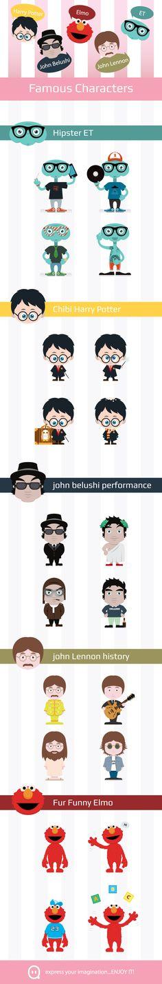 Famous Characters by Manuel Corsi, via Behance