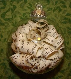 What have I done now?: Old Book Christmas Ornaments