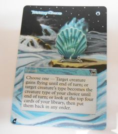 MTG Altered Painted Trickery Charm Onslaught #WizardsoftheCoast