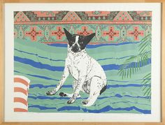 Zeefdruk | Ramon van de Werken | 1973 | CODA Museum | CC BY European Union Members, Bacchus, Ramones, Just For Fun, Mans Best Friend, Boston Terrier, Sculptures, Museum, Van