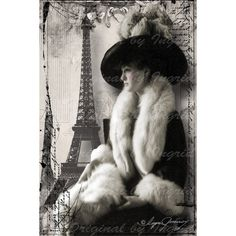 Elegance de Paris Digital Collage Greeting Card (Suitable for Framing) (26 PLN) ❤ liked on Polyvore featuring home, home decor and stationery