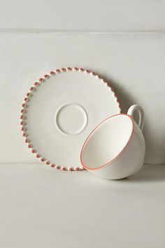 Pearl-Drop Cup & Saucer