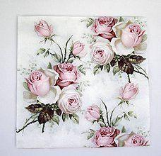 Papier - Servítka V3-  Love Rose - 6641765_