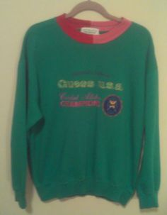 Womens Guess Sweat Shirt Size Large Georges Marciano Cricket Allstar Champions