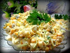 Przez żołądek do serca.: SAŁATKA Z POREM I OGÓRKIEM KISZONYM Pasta Salad, Cabbage, Food Porn, Vegetables, Ethnic Recipes, Impreza, Diet, Crab Pasta Salad, Cabbages
