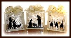 ♥ ♥ ♥ this glass block nativity!   # Pin++ for Pinterest #