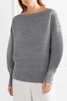 Victoria, Victoria Beckham | One-shoulder ribbed merino wool sweater | NET-A-PORTER.COM