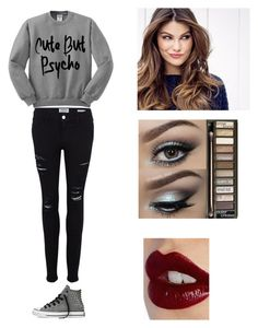 """normal clothes"" by darkside1640 ❤ liked on Polyvore featuring Frame Denim, Converse, ULTA, Urban Decay, Charlotte Tilbury, women's clothing, women's fashion, women, female and woman"