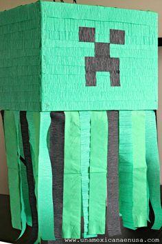 Una Mexicana en USA: Piñata fácil de Minecraft
