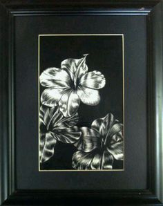"For Sale: Tres Flores by Maty Yeppez | $250 | 12""w x 15""h | Original Art | http://www.vangoart.co/buy/art/tres-flores @VangoArt"