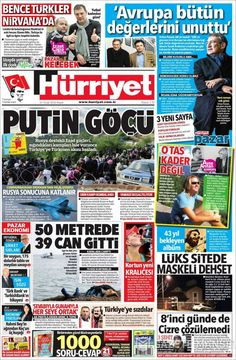 #20160131 #TürkiyeHABER #HürriyetGazetesi 31 Ocak / JAN 2016 #TurkeyNEWSpaper http://en.kiosko.net/tr/2016-01-31/np/hurriyet.html