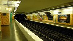 Raspail station, line early Mouton-Duvernet style Metro Paris, Gaulle, Paris City, Stairs, Style, Orange, Design, Metro Station, Parking Lot