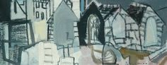 St Ives Churchyard, 1950 by Patrick Heron (British Paintings I Love, Your Paintings, Gallery Of Modern Art, Art Gallery, Hepworth Wakefield, Patrick Heron, Purple Painting, Image Painting, Collage Illustration