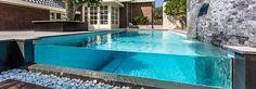 glass edge swimming pool