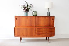Danish vintage highboard in teakwood Danish Modern Midcentury modern