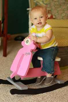 *Cuteness Disclaimer* We love this baby-sized scooter! Learn how to make an adorable rocking scooter for the little one in your life. By @Killer b.