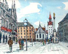 Lisbon Lisboa Portugal art print from an original by AndreVoyy