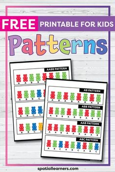 These FREE printable worksheets for kids are great for practicing spatial concepts! These patterns worksheets can be used as homework, bell-ringer activity, or warm-up activity. Fun activity for your kindergarten or grade 1 students! Teaching Activities, Teaching Tools, Teaching Resources, Science Resources, Teaching Ideas, Free Printable Worksheets, Worksheets For Kids, Free Printables, Early Years Teaching