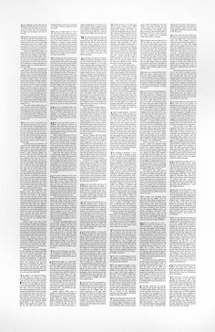 Emma Kay, 'The Bible from Memory' 1997 National Poetry Day, Data Visualization, New Image, It Cast, Bible, How To Apply, Cut Loose, Memories, Words