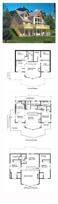Coastal House Plan 85316 | Total Living Area: 2281 sq. ft., 3 bedrooms and 3 bathrooms. #coastalhome