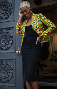 African Clothing/ Ankara Jacket/ Print/ Ankara print/ African Print - Women's style: Patterns of sustainability African Fashion Ankara, Latest African Fashion Dresses, African Dresses For Women, African Print Fashion, Africa Fashion, African Attire, African Outfits, African Women, Modern African Fashion