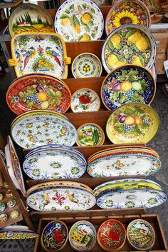 Italian ceramics as far as the eye can see