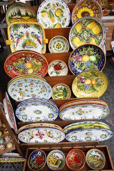 Italian ceramics as far as the eye can see