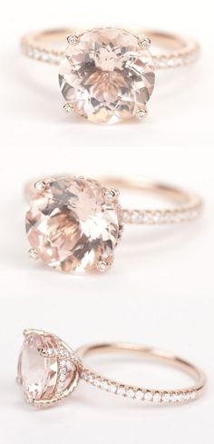15 Stunning Rose Gold Wedding Engagement Rings that Melt Your Heart | http://www.tulleandchantilly.com/blog/15-stunning-rose-gold-wedding-engagement-rings-that-melt-your-heart/ #ILoveWeddings