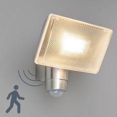 LED Strahler VAP Delux mit Bewegungsmelder Aluminium  #lampenundleuchten.at #Außenbeleuchtung #safetyLights