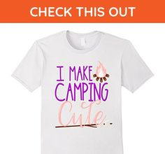Mens I Make Camping Cute Shirt Daughter Kids Girls Glamping Camp 3XL White - Relatives and family shirts (*Amazon Partner-Link)